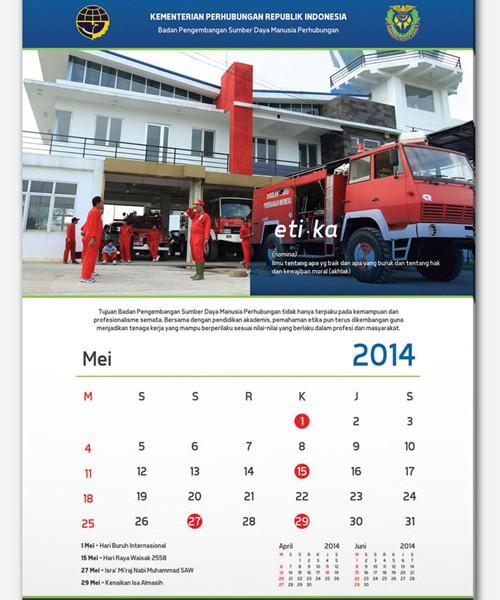 Logistics Calendar Design : Desain logo stationery hosanna freight logistics