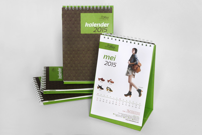 Desain Kalender Meja 'Natana' 2015 - The Hummingbird Design