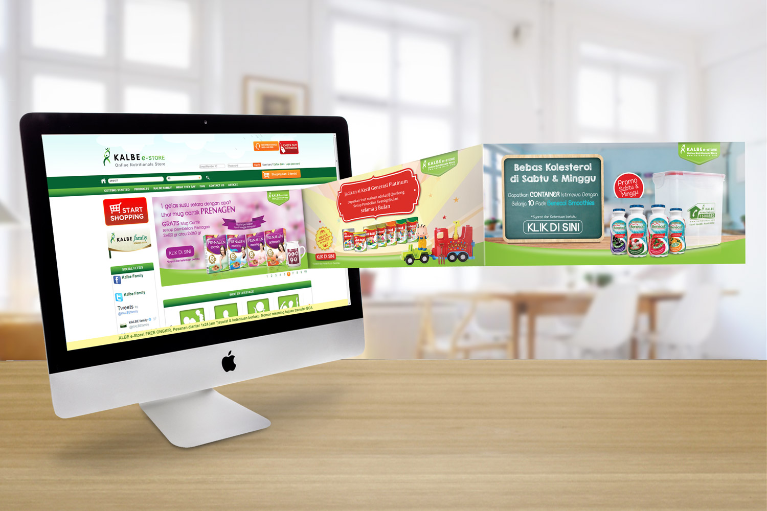 Desain Web Banner Kalbe E Store The Hummingbird Design